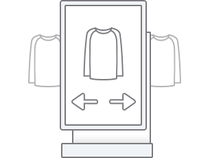 Try on items the easy way,<br/>virtually!